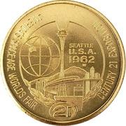 1962 Seattle Worlds Fair $1 Coin – avers