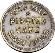 25 Cents - Pirates Cave (Fort Worth, Texas) – avers