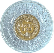 Encased Token - Taylorville National Bank (Taylorville, IL) – revers