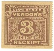3 cents (Ohio Sales Tax Receipt) – avers