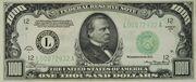 1000$ 1934 – avers
