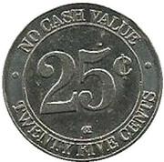 25 Cents WashToken – revers