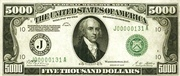 5,000 Dollars (Federal Reserve Note - Small Portrait) – avers