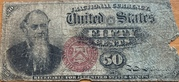 """50 Cents (""""Fractional Currency"""" - 4th issue) 1869-1875 – avers"""