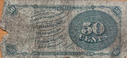 """50 Cents (""""Fractional Currency"""" - 4th issue) 1869-1875 – revers"""