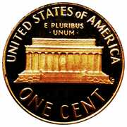 """1 cent """"Lincoln Memorial Penny"""" -  revers"""