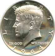 """½  dollar """"Kennedy Half Dollar"""" (argent 900‰) -  avers"""