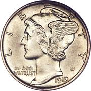 """10 cents """"Mercury Dime"""" -  avers"""