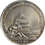 Médaille - Guerre en Silésie – avers