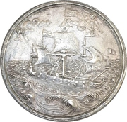 Medal - To the travel of Anna Sophie to her hometown in Denmark - Johann Georg II. – revers