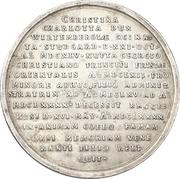 Medal - Death of Christine Charlotte of Württemberg – revers