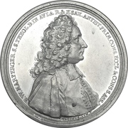 Medal - Bernhard Walther Marperger and the Saxony electoral church council – avers