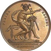 Medal - Free trade celebration – avers