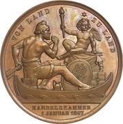 Medal - Free trade celebration – revers