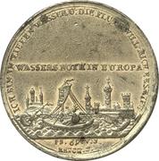 Medal - Flood of Nuremberg 1784 – revers