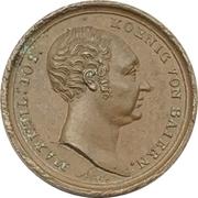 Médaille - 25th anniversary of reign - Maximilian I. Joseph of Bavaria – avers