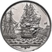 Medal - Naval Battle of Eckernförde (Zinc issue) – avers