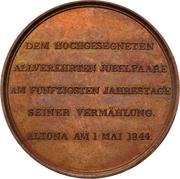 Medal - Conrad von Blücher-Altona (Golden wedding) – revers