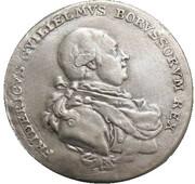 Friedrich Wilhelm II. entrée au gouvernement (Prussie) – avers