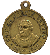 Médaille - Martin Luther (400e anniversaire) – avers