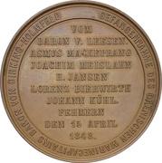Médaille - Capture of the danish captain Baron Dirking-Holmfeld (Schleswig-Holstein) – revers