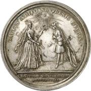 Medal - Christiane Charlotte (Brandenburg-Ansbach; passing of her regency) – revers