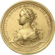 Medal - Christiane Charlotte (Brandenburg-Ansbach; passing of her regency) – avers
