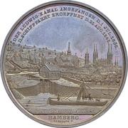 Médaille - Construction du Canal Ludwig (Bamberg) – avers