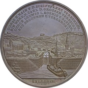 Médaille - Construction du Canal Ludwig (Bamberg) – revers