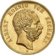 5 Mark - Albert (800 years house of Wettin; Gold pattern strike) – avers