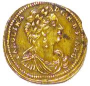 Rechenpfennig (Caroline of Ansbach) – avers