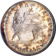 ½ birr - Manelik II – revers