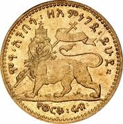 ¼ werk - Menelik II – revers