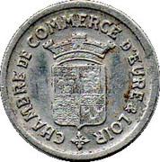 10 centimes - Chambre de Commerce - Eure & Loir [28] – avers