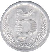 5 Centimes - Chambre de commerce -  Eure & Loir [28] – revers