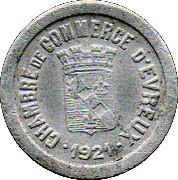 5 centimes - Chambre de Commerce - Evreux [27] – avers