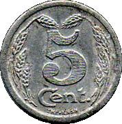 5 centimes - Chambre de Commerce - Evreux [27] – revers