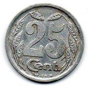 25 centimes - Chambre de Commerce - Evreux [27] – revers