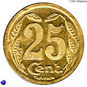 25 Centimes Evreux [27] - ESSAI – revers