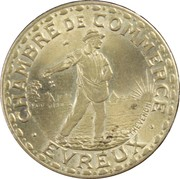 1 Franc - Chambre de Commerce d'Évreux (laiton) [27] – avers