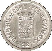 10 centimes - Chambre de Commerce - Evreux [27] – avers