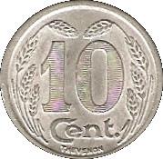 10 centimes - Chambre de Commerce - Evreux [27] – revers