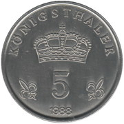 5 Königsthaler – revers