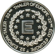 ECU / 22nd Thaler of Europe – revers