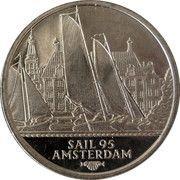 2 ECU - Beatrix (Sail '95 Amsterdam) Friese Tjotters -  revers