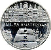 2 écus Sail Amsterdam 95 Vue ville -  revers