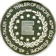 ECU / 43rd Thaler of Europe – revers
