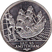 2 ECU - Beatrix (Sail '95 Amsterdam) -  revers