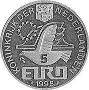 5 Euro - BEATRIX (M.C.Escher -1898/1972-) -  avers