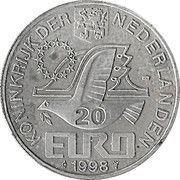 20 EURO - Beatrix (M.C.Escher -1898/1972-) -  avers